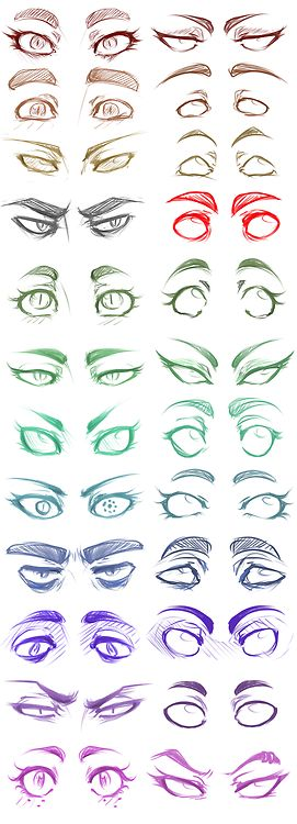 Eyes by panicismyrain ✤ || CHARACTER DESIGN REFERENCES | キャラクターデザイン •
