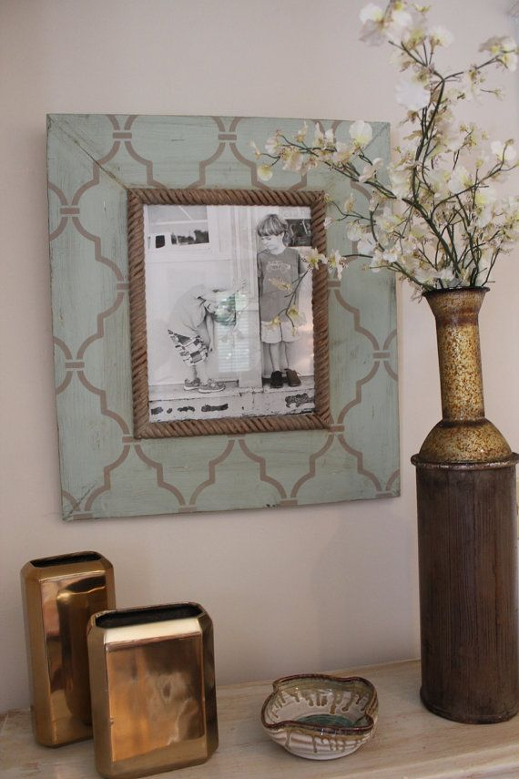 11x14 Large Trellis Distressed Wood Picture Frame Quiteude Barn wood Grey