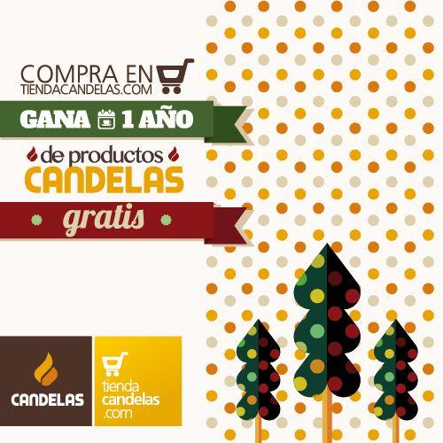 Sólo por hacer una compra en tiendacandelas.com entras en el sorteo de un año de productos Candelas gratis.