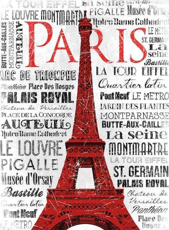 Jace Grey Paris White & Red