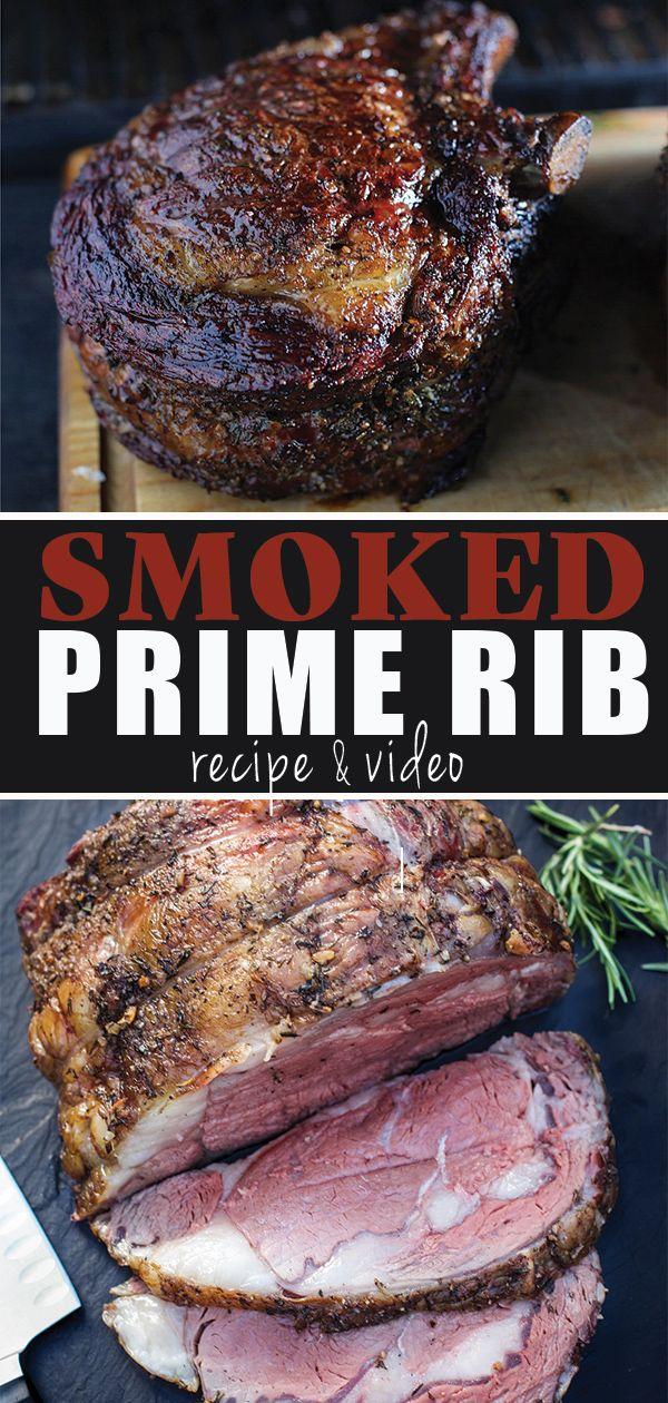Smoked Prime Rib Recipe And Video Recipe Smoked Food Recipes