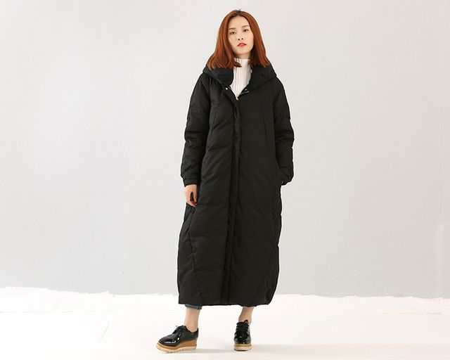 Thick Down Coat X-Long Down Coat Winter Jackets Women Coat Plus Size Down Coat With Large Pocket