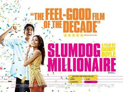SLumdog Millionaire - Starring Dev Patel and Frida Pinto