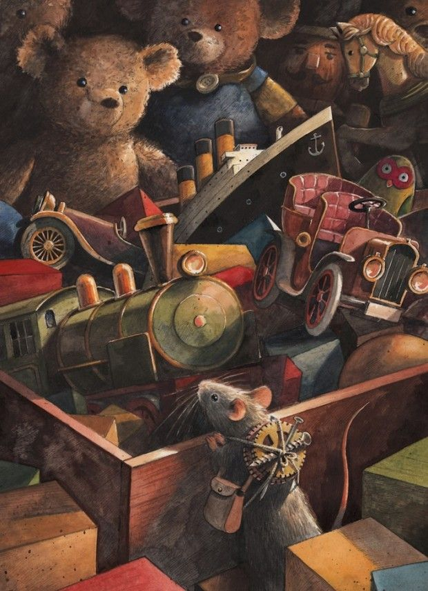 """Lindbergh"", l'avventurosa storia del topo che sorvolò l'oceano, - illustrated by Torben Kuhlmann"