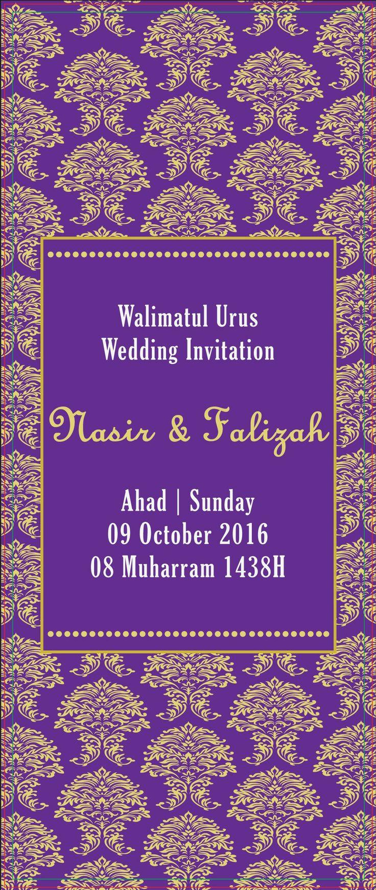 my wedding invitation by forever printz (fb) gold + purple theme