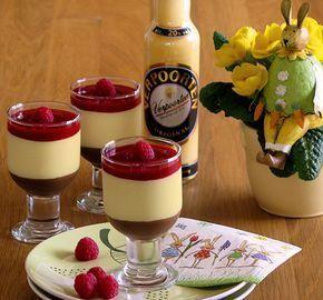 Eierlikör-Dessert in drei Schichten – Nachtisch mit Eierlikör