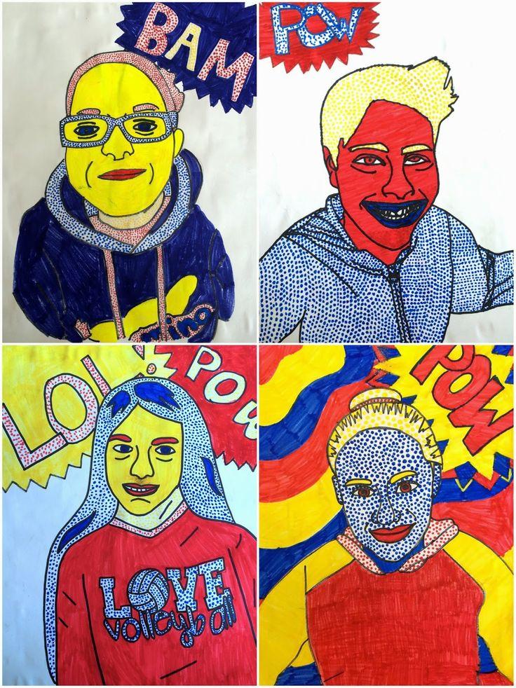 Art. Eat. Tie Dye. Repeat.: 6th Grade Roy Lichtenstein Self Portraits