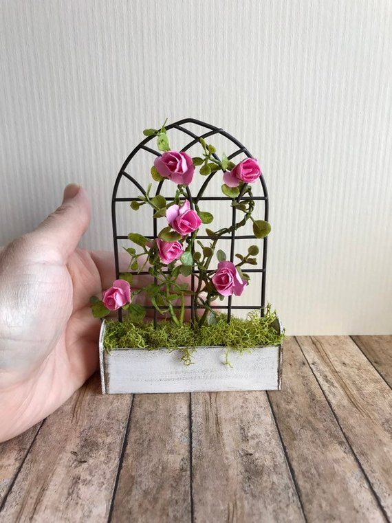 Houses, Miniatures Miniature Dollhouse 1:12 Scale Garden Planter Box Flower Pot Other