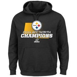 Men's Pittsburgh Steelers Majestic Black 2014 AFC North Division Champions Hoodie