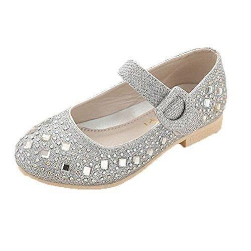 Oferta: 15.12€. Comprar Ofertas de cnWay Zapatos Niñera sandalias de tiras de la boda diamantes de imitación Bajo Medio Alto Tacones bailarina festivo bautizo p barato. ¡Mira las ofertas!