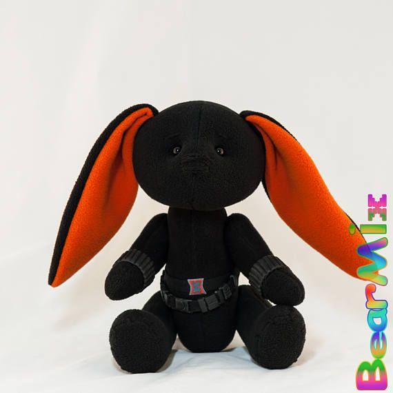 Black Widow bunny Черная вдова зайка
