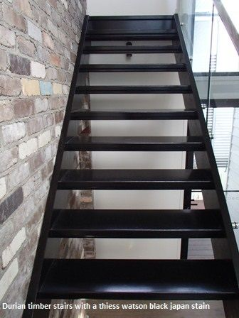Black stained timber (Durian) stairs