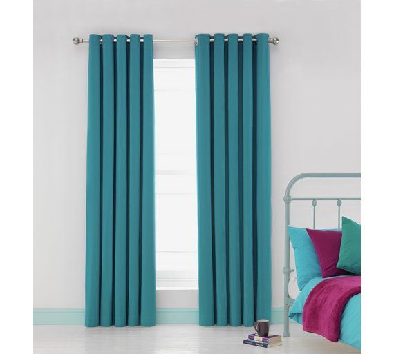 Buy ColourMatch Blackout Eyelet Curtains - 168x229cm - Teal at Argos.co.uk - Your Online Shop for Curtains, Blinds, curtains and accessories, Home furnishings, Home and garden.