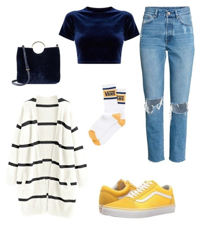 """Blue & yellow"" by kyrarosie on Polyvore featuring mode, Vans en LC Lauren Conrad"