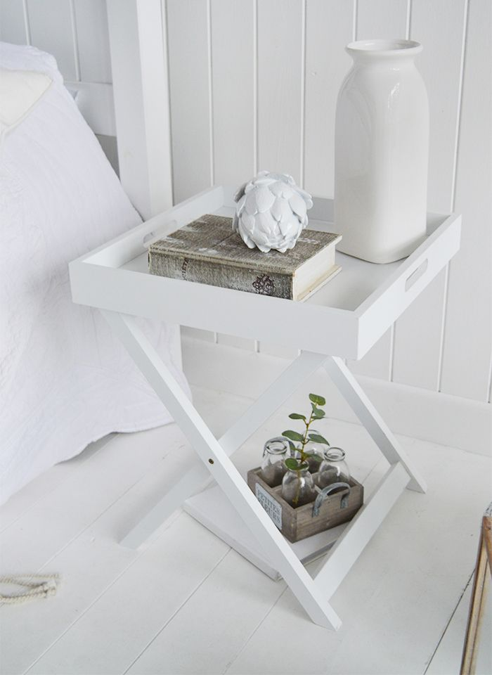 The White Lighthouse Furniture Connecticut White Tray Table