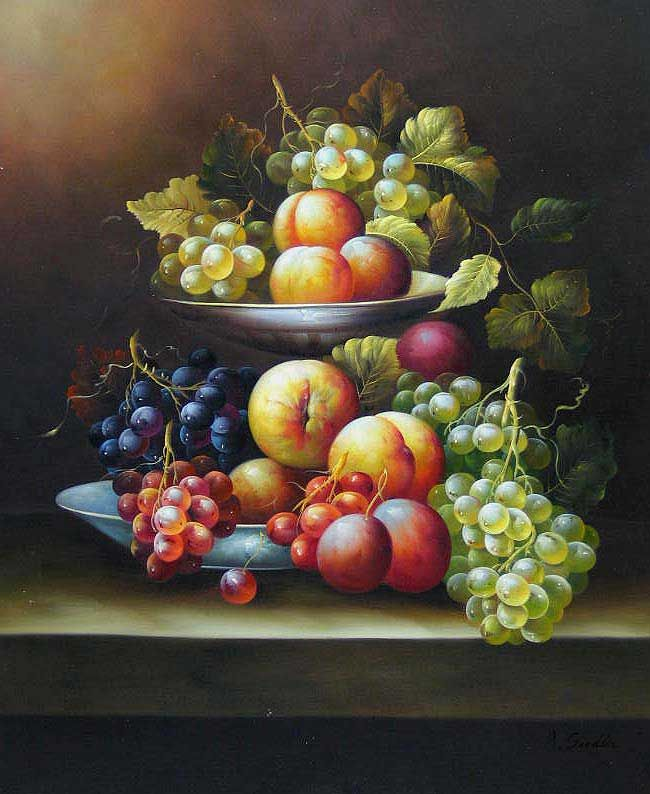 Oil Paintings Of Fruit | Still Life Fruit,oil paintings online - Cuisine, oil paintings on ...