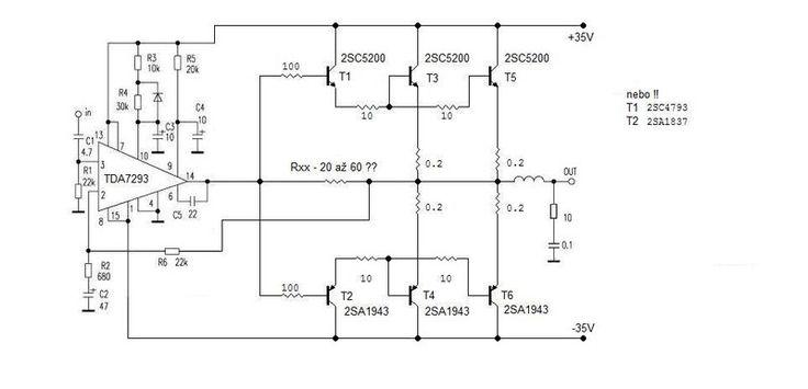 sch ma zesilova 300w s tda7293 my audio project in. Black Bedroom Furniture Sets. Home Design Ideas