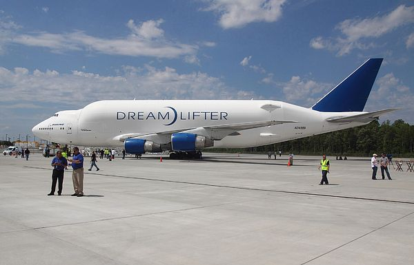 Boeing Dreamlifter poses in Charleston, SC in 2012. I was an invited media guess for the unveiling of the first 787 built at the new facility in South Carolina