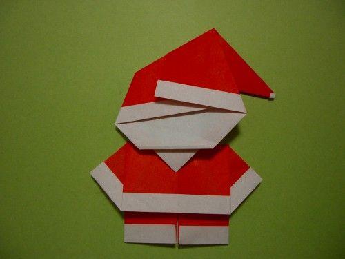 Süße kleine Weihnachtsmänner zum Falten...