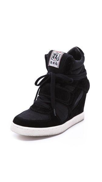 7f3e13a03 Cool Wedge Sneakers - #wedgesneakers Black Wedge Sneakers, Ash Sneakers,  Shoes Sneakers,