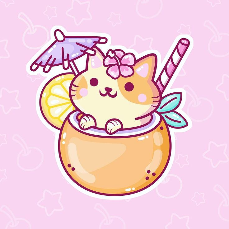 Heres a before bedtime coconut kitty that has some tropical vibes for you 🌴💕🌸