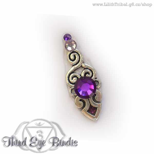 Aztec Sign – tribal bindi – purple