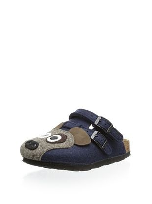 56% OFF Birki's Kid's Felt Dog Clog (Blue)