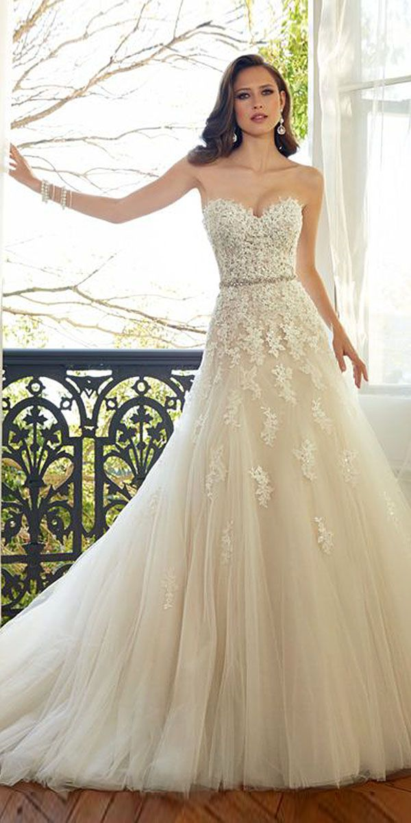 Strapless Sweetheart Neckline Wedding Dresses From TOP Designers ❤ See more: http://www.weddingforward.com/strapless-sweetheart-neckline-wedding-dresses/ #weddings