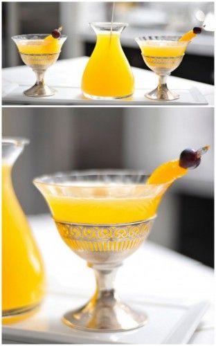 Mandarin Martini (Mandarin Juice, Cointreau, Vodka, & Syrup from Canned Mandarin Oranges)