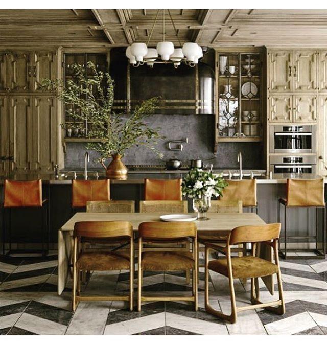 """Time is a precious thing. Never waste it."" Gene Wilder Loving this kitchen by Ken Fulk @elledecor • • • • •  #art #interior #interiordesign #architecture #instadecor  #interiorinspo #interiorinspiration #interiors #artist #inspo #inspiration #decor #style #fashion #luxury #mansion #home #homedecor  #interiordesigner  #design #homedesign  #adstyle #elledecor #interior123 #interiorinspiration  #interiors #homedesign  #instadecor #stairs #quote #decoration #decorlovers #kitchen"