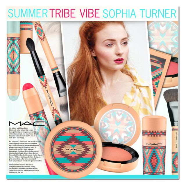 """""""Summer Tribe Vibe: Sophia Turner"""" by anna-anica ❤ liked on Polyvore featuring beauty and MAC Cosmetics"""