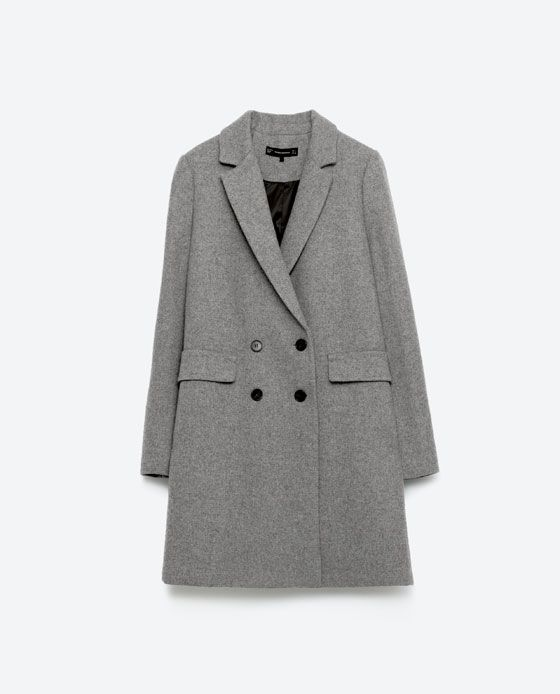 Image 11 of DOUBLE BUTTON MASCULINE COAT from Zara