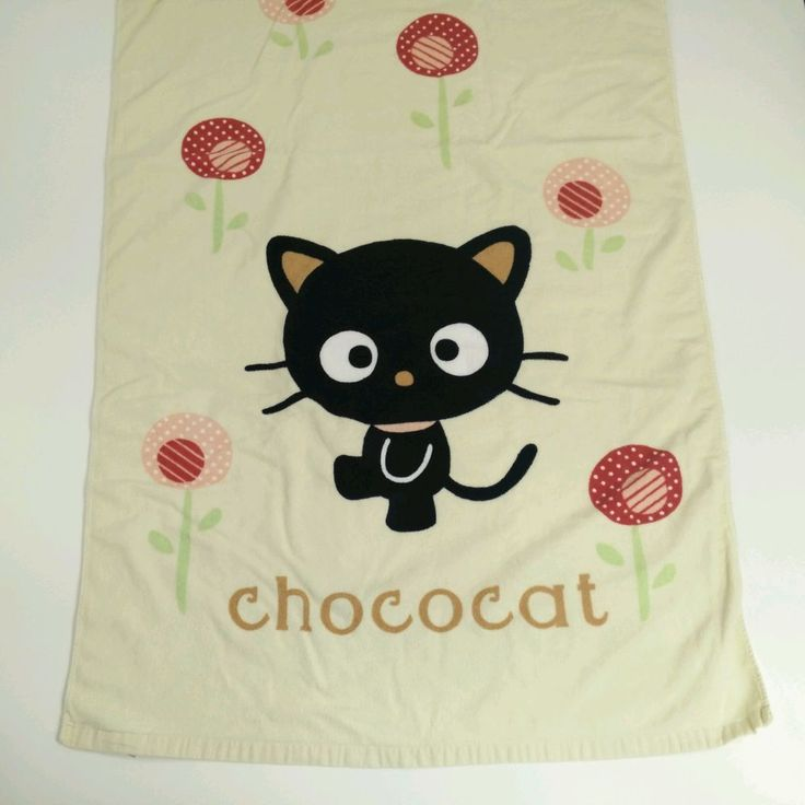 "Sanrio Hello Kitty Chococat Beach Towel 2004 Rare VHTF 58"" x 29""  100% Cotton #Sanrio"