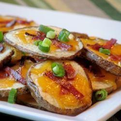 Batata assada com queijo e bacon