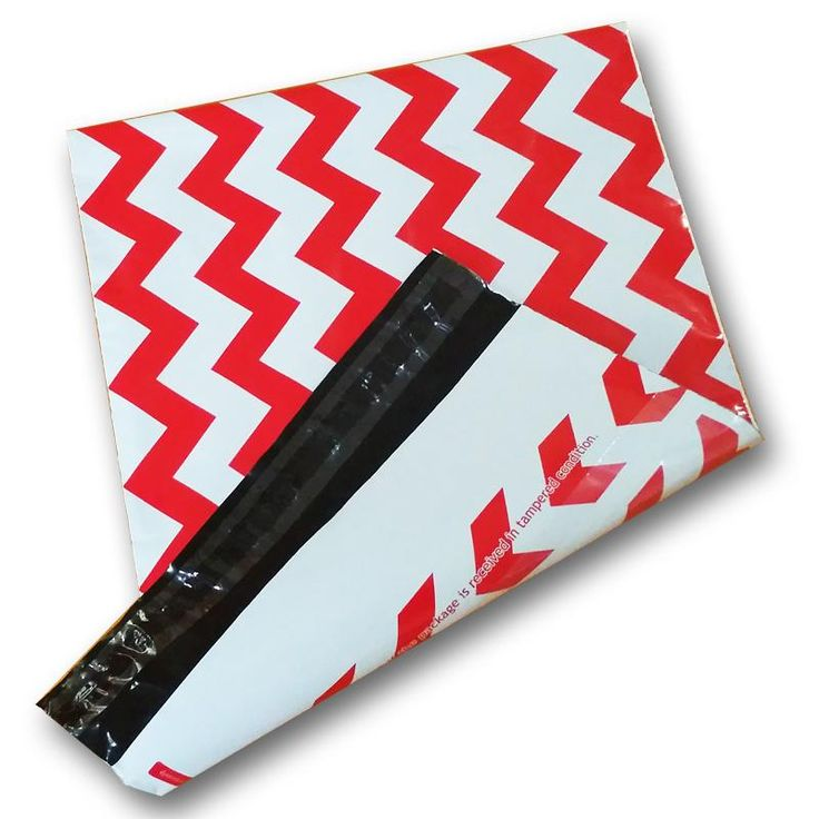 Get Red Chevron Premium Printed Courier Bags Online.