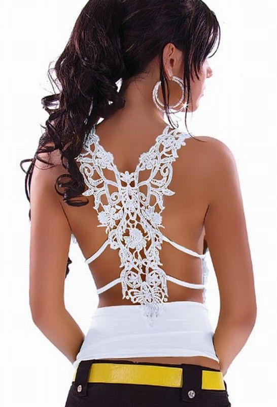Free Shipping Ruffle Top blouse with Sexy Case Back For Embroidery from Woman Fashion on Storenvy