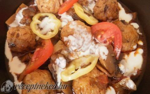 Bakonyi betyárgombóc recept fotóval