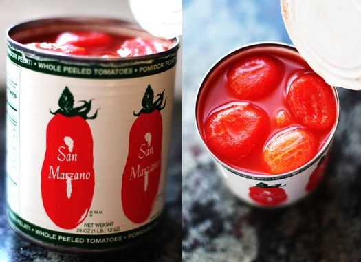 Super easy San Marzano tomato sauce. 4 ingredients + your favorite pasta = Dinner in no time!