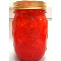 Gelée de rhubarbe et de fraises