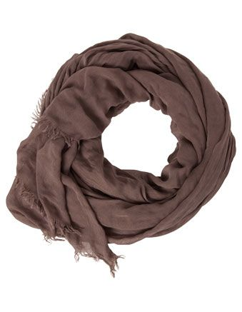 Large mid-weight Design Studio solid colour scarf Taupe $20