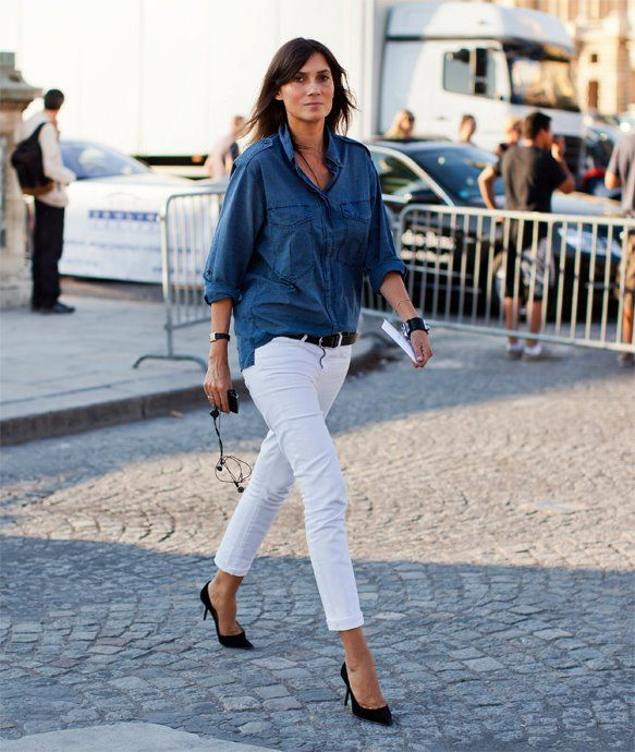 144 best How to Wear: The Denim Shirt images on Pinterest