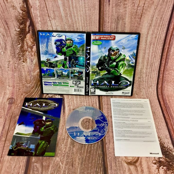 HALO COMBAT EVOLVED HALO 1 PC CD GAMES MICROSOFT ORIGINAL & COMPLETE VGC 16+
