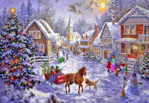 VILLAGE CHRISTMAS (96 pieces)