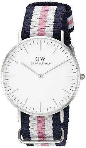 Daniel Wellington Damen-Armbanduhr Southampton Analog Quarz Nylon 0605DW - http://uhr.haus/daniel-wellington/silber-daniel-wellington-uhr-classic-nato-blau