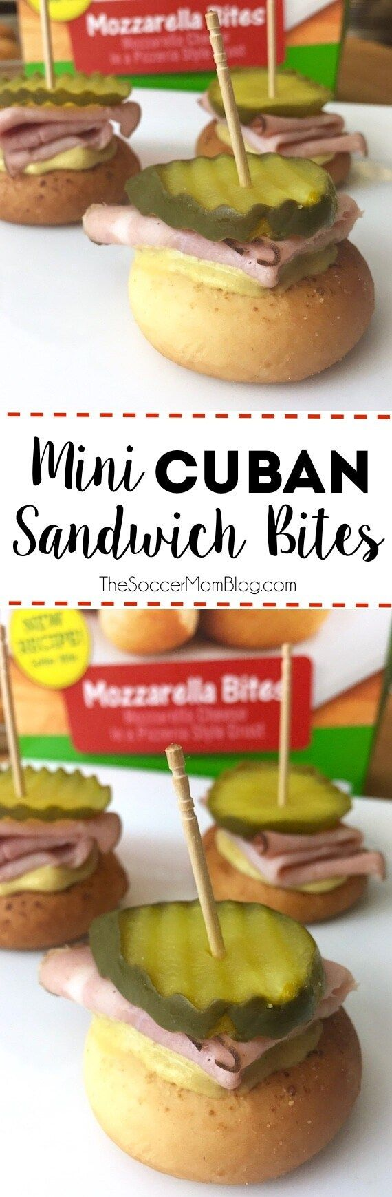 All the flavors of a Cuban sandwich in one tasty bite! Mini Cuban Sandwich Bites are the perfect game-day appetizer - easy to make & virtually mess-free! #MadSnackSkills (ad)