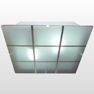 Plafon de Teto 323/2 Spot Line 30cm Vidro Espelhado Xadrez