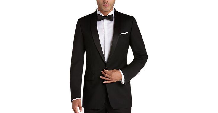 Check this out! Black Slim Fit Tuxedo - Men's Tuxedos - Calvin Klein from MensWearhouse. #MensWearhouse