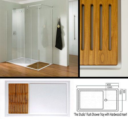 Shower with Wood Tray | Furniture | Pinterest | Wood ...