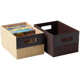 Lovely DVD Storage Boxes From The Container Store