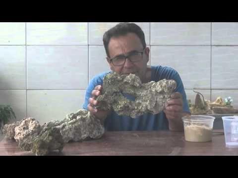 Como fazer Massa (Cola) p/ colar Pedras Naturais e Artificiais - YouTube